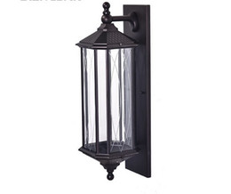 China Black Retro Garden Wall lights Outdoor Aluminium Waterproof LED Lamp Wall Sconce Lighting For Porch Balcony Aisle Fixtures LLFA supplier black wall sconces suppliers