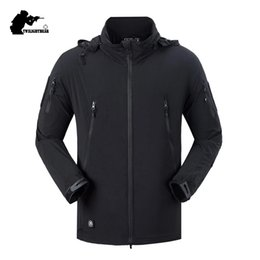 Nylon Coating Australia - New Men's Waterproof Tactical Jacket Coat Spring Autumn Male Hooded Multiple Pockets Nylon Jackets Men Thin Outwear S-2XL BF080