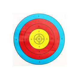 $enCountryForm.capitalKeyWord Australia - 40X40cm Archery Target Half Ring Target Paper Bow And Arrow Outdoor Shooting Sports Equipment Training Hunting target Tactical Accessories