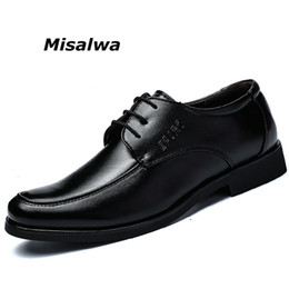 Party Shoes For Men Australia - Misalwa European Style Elegant Oxford Formal Shoes For Men Business Office Leather Handmade Black Luxury Footwear Pointy Shoes