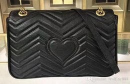 Antique Zippers Australia - Quality 443496 31cm Marmont Matelassé Shoulder Bag,Antique gold-toned hardware,Flap spring closure,with Dust Bag Free Shipping