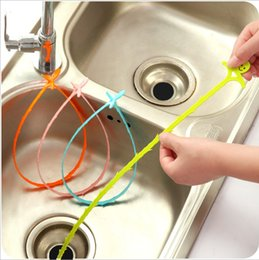 kitchen blocks Australia - 51CM Drain Hair Wig Removal Clog Cleaners Wig Kitchen Tools Toilet Cleaner Household flume drainage anti-blocking cleaning hoo (Mixed color