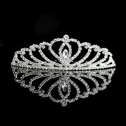 Decorative Hairpins NZ - Beautiful Rhinestone Crystal Hot Hair Comb for Women or Girls Wedding Party Gift Silver Decorative Head Tiara or Hair Pin Accessories
