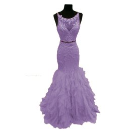 $enCountryForm.capitalKeyWord UK - Two Pieces Mermaid Prom Dresses Tulle Ruffle Cascading Tiered Graduation Dresses Elegant Special Occasion Dresses Keyhole Back Evening Gowns