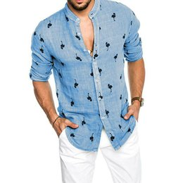 hot tee shirts Australia - Summer Men's Linen Long Sleeve Cotton Linen V-neck Shirt Loose Casual Shirts Tops arrival Loose Soft Tops Tee Hot M-3XL