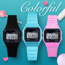 $enCountryForm.capitalKeyWord NZ - Fashion Luxury Men's Led Watch alarm clock Men women's F-91W watches Cheap F91W fashion thin LED watches