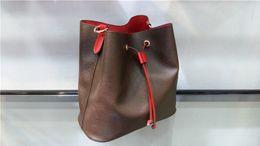 Cell Phones Classic Australia - Hot Classic genuine leather drawstring bucket bags women messenger bag fashion cell phone pocket Cosmetic purse bolsas femininas