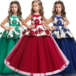 $enCountryForm.capitalKeyWord Australia - Baby Girls baptism Princess Flower Ball Gown Dress Kids Bridemaid Dresses For Girls Wedding Party Dress first communion dressMX190912
