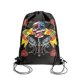 City beaCh online shopping - Sports backpack Gun N Roses Paradise city outdoor cute personalizedpackage daily limited edition backpack school Travel Beach pull string B