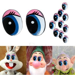 inflatable bear Australia - Oval Blue Safety Plastic Eyes Toy Puppets Dolls Eyes DIY 24 x 18mm 5