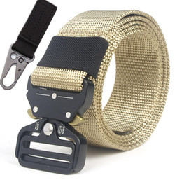duty free belts 2020 - Nylon Belt Metal Buckle Tactical Belt Men Army Outdoor Training Safety Combat Waist Straps Quality Molle Duty Ceintures