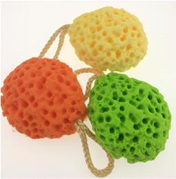 $enCountryForm.capitalKeyWord Australia - Honeycomb Sponge Shower Cleansing ball hydrophilic Discharge Makeup Increase foam Puff Washing large shower for bubble sponge 10.5x8.5x4.5cm
