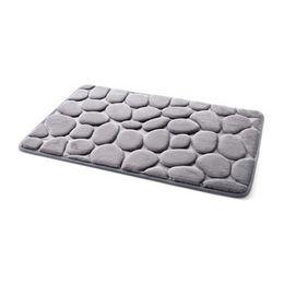 Lucky Decor Australia - Lucky Home Grey 3D Pebbles Bath Mat 40x60cm Cobblestone Absorbent Living room,Kitchen,Doorway,Mats for Home Bedroom Floor Decor (Grey)