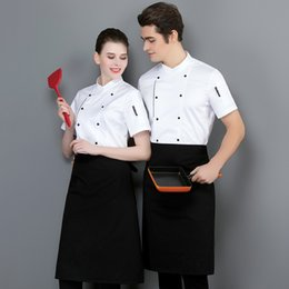 df51c5a77 Chef Workwear Men's Summer Short Sleeve Thin Breathable Cotton White Chef  Jacket Clothes Hotel Baking Restaurant Kitchen Chef Uniform