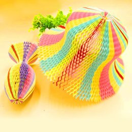 vase cap Australia - 100PCS Magic Vase Paper Hats Handmade Folding Hat for Party Decorations Funny Paper Caps Travel Sun Hats Colorful ZA3354