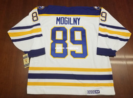 Cheap custom Alexander Mogliny Vintage Buffalo Sabres CCM Jersey 75th Patch Mens  Personalized Any name number stitching jerseys XS-6XL 7b9b3d77d
