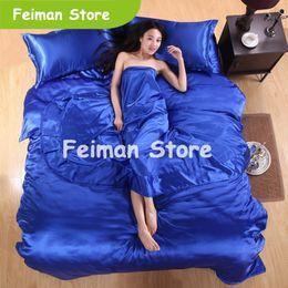 $enCountryForm.capitalKeyWord Australia - HOT! 100% pure satin silk bedding set,Home Textile Full Queen King size bed sheet,bedclothes,duvet cover flat sheet pillowcases