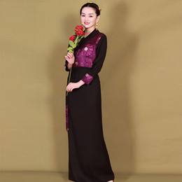 $enCountryForm.capitalKeyWord Australia - Women Stage wear high quality fabric Dance Costumes ethnic elegant Set tibetan summer dress classical national performance clothing