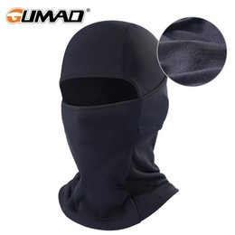 winter fleece face mask NZ - Black Winter Fleece Balaclava Full Face Mask Thermal Warmer Cycling Hood Liner Sports Ski Bike Riding Snowboard Shield Hat Cap