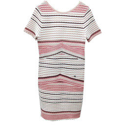 464073ea7dd Factory custom ladies wind three-dimensional color stripes V-neck halter  dress sexy Slim bag hip short-sleeved temperament