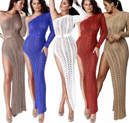 e62d78f6c553d Kaftan Beach Dresses Swimwear Ladies Swimsuit Female Cover Up Swim Suit For  Women Robes Dress Plus Size Summer Knitted Mesh 2019 J190618