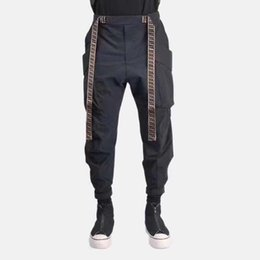 $enCountryForm.capitalKeyWord UK - 2019FF New Pants Fashion Spring and Autumn Slim Letter Printing Feet Joggers Sports Beam Foot Casual Track Pants Size M-2XL