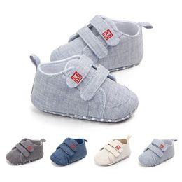 $enCountryForm.capitalKeyWord Australia - Autumn Baby Boys Girls Canvas Shoes High Quality Two Strap Newborn Baby Toddler Fashion First Walkers For 0-18M