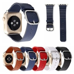 New Arrival Smart Watch Australia - New Arrival Ring Buckle Leather Band Watchband Replacement Wrist Band Straps For Apple Smart Watch iwatch Strap 38mm 42mm Watchbands