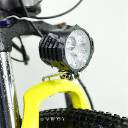 Wholesale For Electric Bicycle LED Headlight W V V Waterproof E Bike Front Light Lights with Horn for Ebike