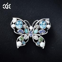 $enCountryForm.capitalKeyWord Australia - Wedding Party beaded pearl gift woman lady diamond jewelry Brooches for bride acting initiation graduation CDE-1314