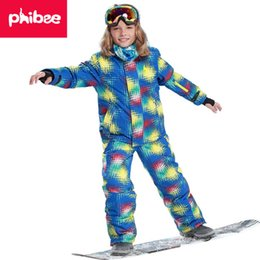 Ski Suits For Children Australia - 2018 Kids Ski Suit Children Windproof Waterproof Colorful Girls for Boy Snowboard Snow Jacket Pants Winter Clothes Sets
