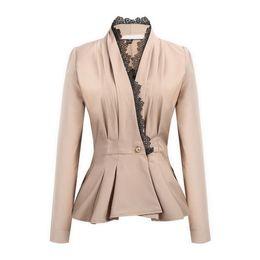 $enCountryForm.capitalKeyWord UK - autumn new women blazers slim jacket lace V-neck waist casual small Ruffle suit female fashion suits belt ladies coats
