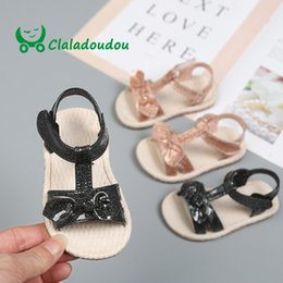 bling wedding sandals 2019 - Claladoudou 11.5-13.5CM champagne baby girls sandals bling bling bright pu leather toddler girls summer shoes for weddin