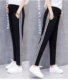 maternity long trousers Australia - Adjustable maternity casual sweatpants Spring 2019 new styles of maternity pants Belly breeches make long trousers