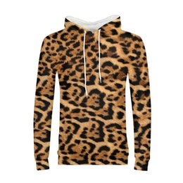 Discount leopard tracksuit men - Leopard Print 3D Winter Hoodies Pullover Mens Sweatshirts Male Hoodie Streatwear Tracksuit 2018 Autumn Clothing DropShip