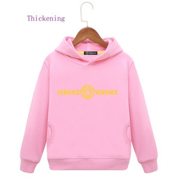 Product Brand Color Australia - Kids Brand Hoodies Customized In Children Even Hat Shirt Pure Color Sleeve Head New Product Plus Cashmere Male Girl winter clothes