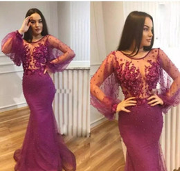 holiday evening gowns floor length Australia - Long Sleeves Prom Dress 2019 Latest African Black Girls Red Carpet Holidays Graduation Wear Evening Party Gown Custom Made Plus Size