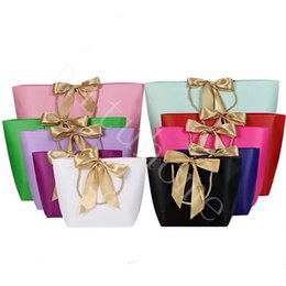 paper clothes NZ - Paper Gifts Bags With Handles Pure Color 10 Colors Clothes Shoe Shopping Bag Gift Wrap 21x7x17cm