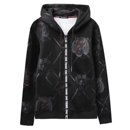 $enCountryForm.capitalKeyWord Canada - Super Cool Hoodies Sweatshirts For Men Winter Thick Hip Hop Men's Jackets Casual Zip up Hoody tiger printed Coats Top Man Clothing