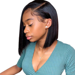 Human Hair For Wigs UK - Brazilian Lace Front Human Hair Wigs For Brazilian Black Women Remy Straight Lace Front Wigs Pre plucked Hairline Full End Natural Black