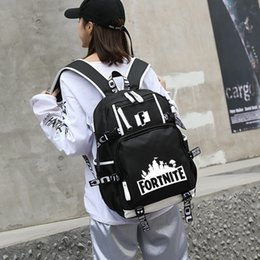 628550b4c7 Fortnite Brand Designer Luminous Backpacks Glow In The Dark Trends Backpack  College Students Sports And Leisure Computer Travel Bag F021