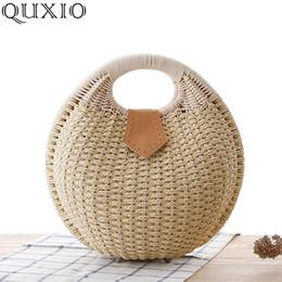 Discount handmade lady bags - Fashion Handmade Woven Straw Handbags Women 2019 New Summer Holiday Cute Female Beach Bag Ladies Casual Messenger Bags P