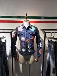 $enCountryForm.capitalKeyWord Australia - 2019 new high quality D2 denim jacket, washed jacket, hand-stitched holes, casual fashion simple multi-functional motorcycle jacket