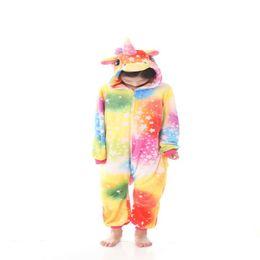 b88176b34b92 2019 Kigurumi Costume Pajamas Halloween Carnival Festival Anime Cosplay Costume  Children Sleepwear Flannel Kids Animal Onesies