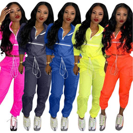 Wholesale hottest women sweat suits resale online - 2020 hot Womens Casual Fashion Autumn Spring Long Sleeved Two piece Jogger Set women Fall Tracksuit Sweat Suits Womens Clothing