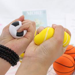 $enCountryForm.capitalKeyWord Australia - Cartoon Basketball Football Baseball Squishy Squeeze Toy Slow Rising Soft Decompresssion Toys Gift for Children Kids