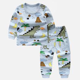 Unisex pajamas set online shopping - Boy Clothing Sets Girls Pajamas Cotton Suit Autumn Winter Shirt Pant Boys Formal Clothing Sets Kids Sleepwear