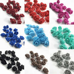 Foam For artiFicial Flowers online shopping - 500pcs set Artificial Rose Flowers Handmake Foam Roses Fake Flower Head Real Touch DIY for Wedding Decoration Gift Making HHA992