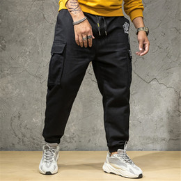 skate light NZ - Men Summer Pants Men Black Jeans Streetwear Casual Long Skate Board Straight Fashion Pocket Plus Size Jeans Trousers 10H
