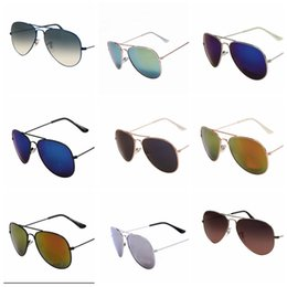 Designer Glasses Women Australia - 2018 Excellent Quality 30251 Ray Aviator Sunglasses Bans Frame Glass Lenses Brand Designer Sunglasses for Man Women
